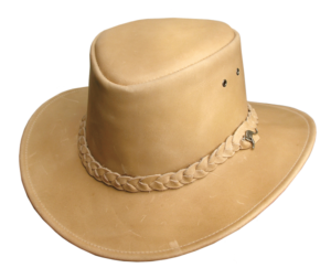No. 4H57Nullabour Vintage Leather Hat, Color Bone