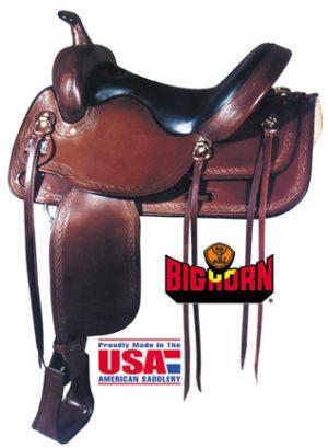 Big Horn A01655-16 & A01658-17TRAIL SADDLE, Full QH Bars