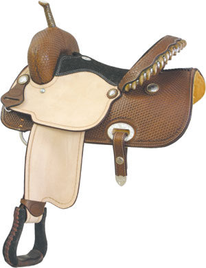 "No. 291273RUN TIME RACER Saddle by Billy Cook, 15"" Seat"