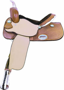 No 291268EP RACER BARREL SADDLE by Billy Cook, 12.5, 14, 15""