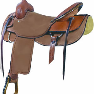 No. 291582PARKER COUNTY CUTTER SADDLE by Billy Cook, 16, 17""