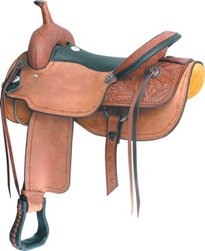 "No. 291581CUTTIN' UP CUTTER SADDLE by Billy Cook, 17"" Seat"