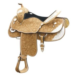No. 291356HUNT COUNTY SHOW SADDLE by Billy Cook, 16 or 17""
