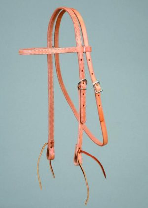 "No. 5-224BOWBAND HEADSTALL, 5/8"" HARNESS LEATHER"