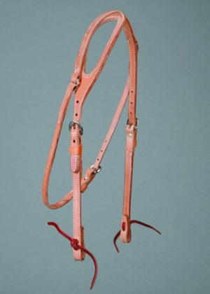 "No. 5-22ONE EAR HEADSTALL, 5/8"" HARNESS LEATHER"