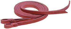 "No 6-285HARNESS LEATHER REINS, 5/8"" s 8'"