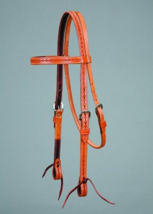 No. 5-50473/4 Inch COLORADO GOLD BORDER TOOLED HEADSTALL