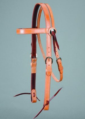 No. 5-2271 Inch BROWBAND HEADSTALL, 1 Skirting Leather