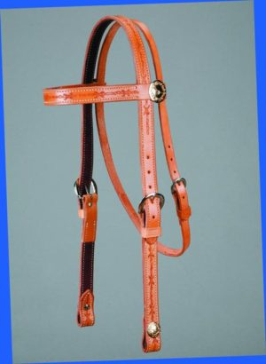 No. 5-2THE Barbwire Concha Headstall, 1 Inch