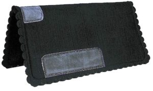 "No. 19-45HEAVY BLACK FELT SADDLE PAD 32"" X 33"""