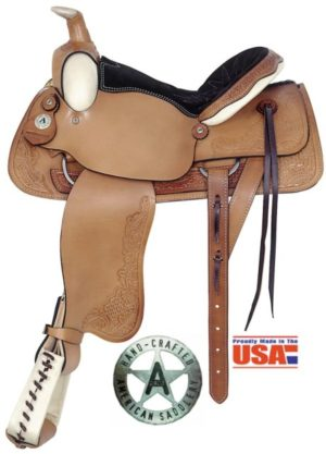 "American No. 757All-Around Deluxe Roping Saddle. 16"" Seat."