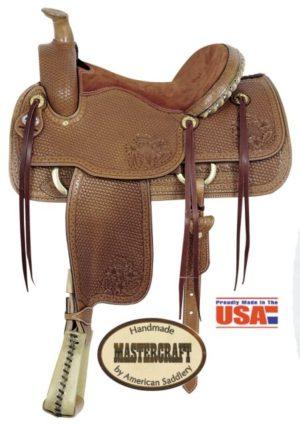 """American No. 1794Helena II Roper Saddle, 16"""" seat, QH Bars"""