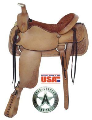 "American No.1860Pro Dally Roper Saddle, 17 1/2"" seat, QH Bar"