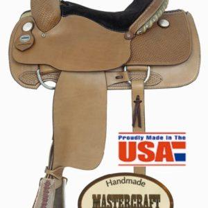 "American No. 110Professional Roper Saddle. 15 1/2"" Seat, QH"