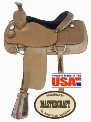 "American No. 110Professional Roper Saddle. 15 1/2"" Seat, QH"