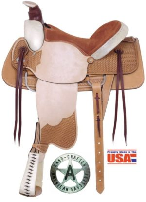 "American No. 759Rodeo All-Around Roper Saddle, 16"" Seat, QH"