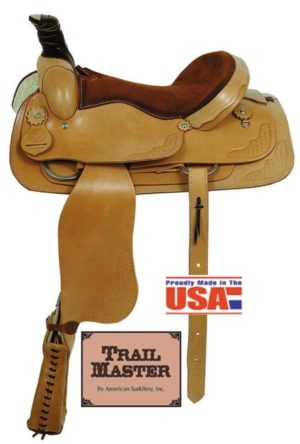 "American No.1650, No.1850The Brazos Roper Saddle, 16 & 17"""