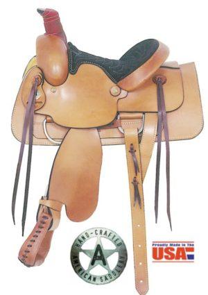 "American No. 650Young Gun Roper Saddle, 13"" Seat, QH Bars"