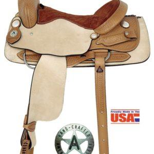 """American No. 1975Basket Weave Cutting Saddle, 16, 17 """" Seat"""