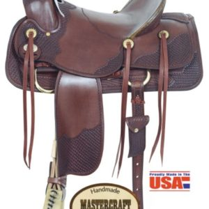"American No. 1783-2Texas A Fork Saddle, 16"" Seat, QH Bars"