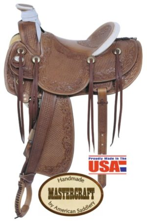 "American No. 125The Legend Ranch Saddle, 16"" Seat, QH Bars"