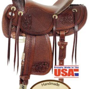 "American No. 128Top Hand Rancher Saddle, 16"" Seat, QH Bar"