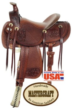 "American No. 128Top Hand Rancher Saddle, 16"" Seat, QH Bar"