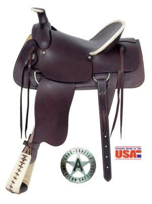 "American No. 746Tipton Stockman Saddle. 16"" Seat, QH Bars"