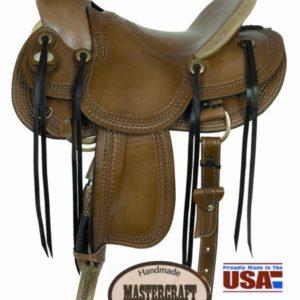 "American No. 122Triangle Border Wade Saddle, 16"" Seat"