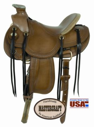 "American No. 122Triangle Border Wade Saddle, 16"" Seat"