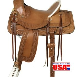 "American No. 1784A Fork Saddle, 16"" Seat, QH Bars"