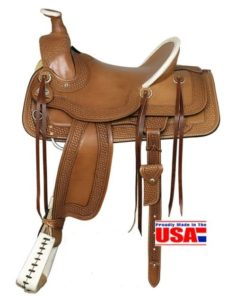 "American No. 1774A-Fork Saddle, 17"" Seat, QH Bars"