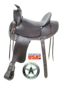 "American No. 1773Old West Trail Saddle, 15&16"", Semi QH Bars"