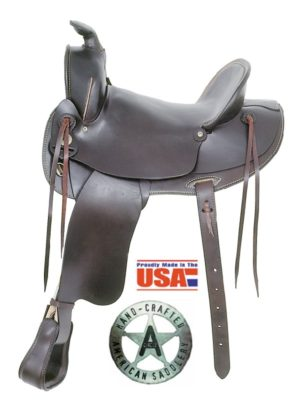"American No. 1773Old West Trail Saddle, 15&16"", Semi QH Bars"