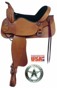 "American No. 1381Enduro Trail Saddle, 15"", 16""  Semi-QH Bars"