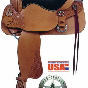"""American No. 1381Enduro Trail Saddle, 15"""", 16""""  Semi-QH Bars"""
