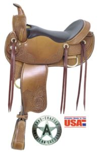 "American No 1315Hi-Grade Trail Saddle,16"" seat. Semi QH Bars"