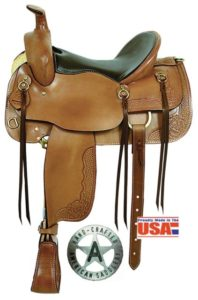 "American No 1386The Cumberland Trail Saddle. 16"" QH Bars"