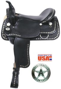 "American No. 1337Diamond Spotted Trail Saddle, 16"", Semi QH"
