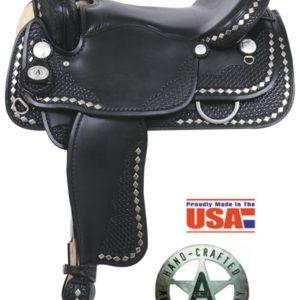 "American No. 1337Diamond Spotted Trail Saddle, 16"", Semi QH"