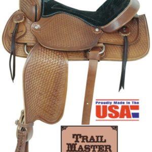 "American No. 172Trail Blazer Saddle, 16"" Seat, QH Bars"