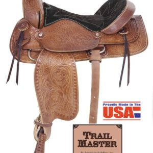 "American No. 175Trail Blazer II Saddle, 16"" Seat, QH Bars"