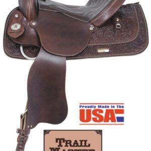 "American No. 1465Trails Together Saddle, 13 - 17"", QH Bars"