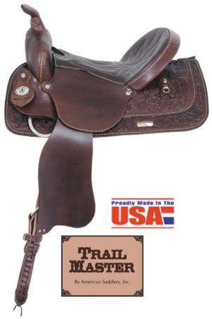 "American No. 1465Trails Together Saddle, 13 - 17"", QH Bars"