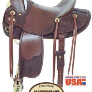 "American No.1701Montana A Fork Saddle, 16"" Seat QH Bars."