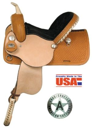 "American No.635Capri Racer, Barrel Saddle, 12 & 13"", QH Bars"