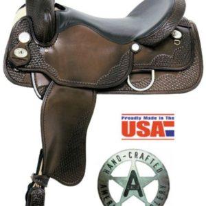 "American No1055 & 1058Hawkeye Gaited Trail Saddle, 16, 17"""