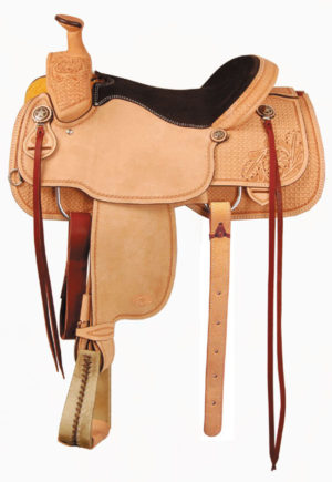 """American No. 1190Tyler TM Roper Saddle, 16"""", Full QH Bars"""