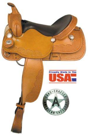"American No.255The Sunset Trail Saddle,16 & 17"" Semi QH Bars"