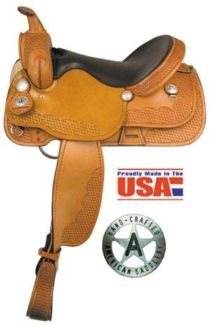 "American No.255The Sunset Trail Saddle,16 & 17"" Semi QH Bars"